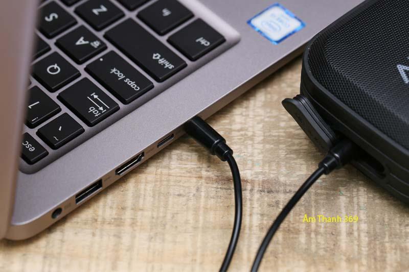 Dây cáp âm thanh 3.5 mm 1 m eSaver DS125-TB - Cáp kết nối loa với laptop